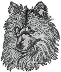 Sheltie Head embroidery design