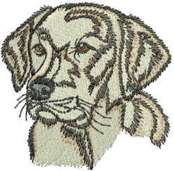 Lab Face embroidery design