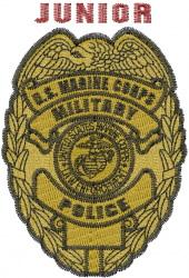 Junior Marine Badge embroidery design
