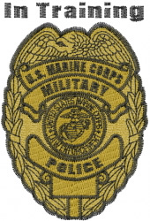 Marine in Training embroidery design