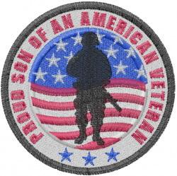 Veterans Son embroidery design