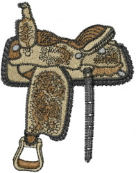 Horse Saddle embroidery design