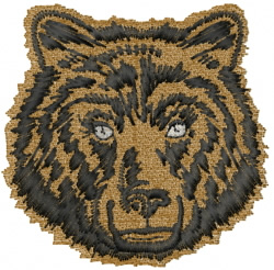 Bear Face embroidery design