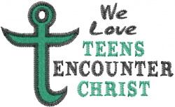We Love TEC embroidery design