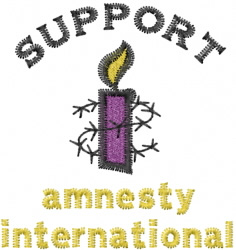 Support Amnesty embroidery design