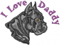Boxer Daddy embroidery design