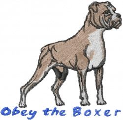 Obey A Boxer embroidery design