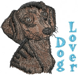 Dachshund Lover embroidery design