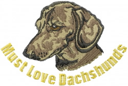 Love Dachshunds embroidery design