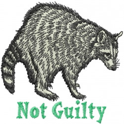 Guilty Raccoon embroidery design