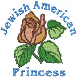 Jewish American Princess embroidery design