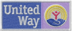 United Way embroidery design