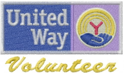 United Way Volunteer embroidery design