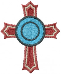 Circle Cross embroidery design
