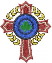 Shamrock Cross embroidery design
