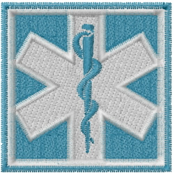 Medical Square embroidery design
