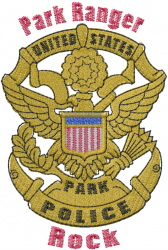 Park police embroidery design