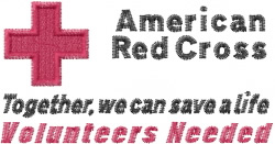 Red Cross Volunteers embroidery design
