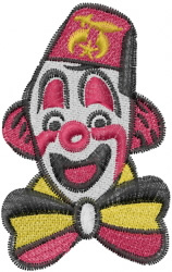 Shriner Clown embroidery design