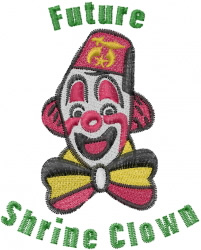 Future Shrine Clown embroidery design