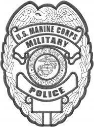 Marine Badge embroidery design
