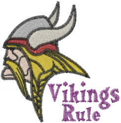 Vikings Rule embroidery design