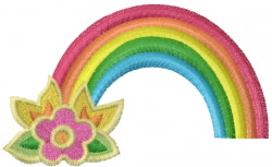 Flower Rainbow embroidery design