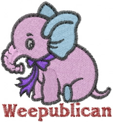 Weepublican Elephant embroidery design