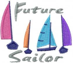 Future Sailor embroidery design