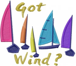 Sailing Wind embroidery design