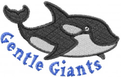 Gentle Whale embroidery design