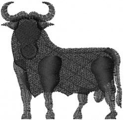 Bull Sllhouette embroidery design