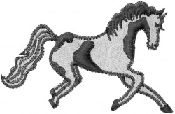 Painted horse embroidery design