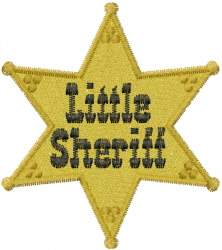 Little Sheriff embroidery design