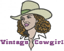 Vintage Cowgirl embroidery design