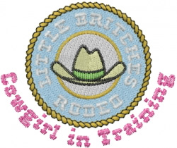 Rodeo Cowgirl embroidery design