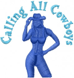 Calling All Cowboys embroidery design