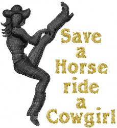 Ride A Cowgirl embroidery design