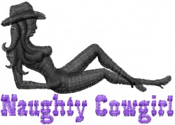 Naughty Cowgirl embroidery design