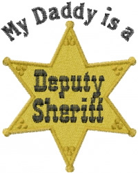 Sheriff Star embroidery design