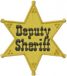 Deputy Sheriff embroidery design