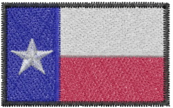 Texas Flag embroidery design