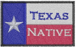 Texas Native embroidery design
