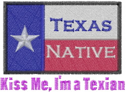Im A Texian embroidery design