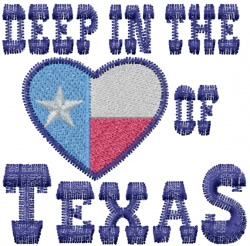 Heart Of Texas embroidery design