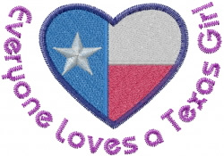 A Texas Girl embroidery design