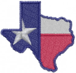 Texas State embroidery design