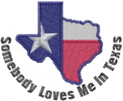 Texas Love embroidery design