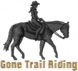 Trail Riding embroidery design
