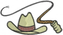 Whip & Hat embroidery design